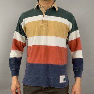 Vintage American Eagle striped rugby polo shirt. T